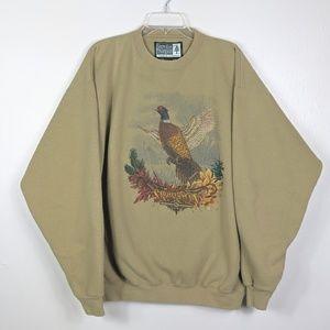 Vintage Oversized Heavy Pheasant Crewneck Large